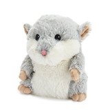 Warmies Cozy Plush Grey Hamster Fully Microwavable Toy