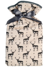 Grey Stags Padded Cotton Cover 2L Hot Water Bottle