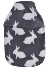 White Rabbits Cosy Grey Fleece 1L Hot Water Bottle & Cover