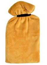 Ochre Supersoft Fleece XL 2.7L Hot Water Bottle & Tie Cover