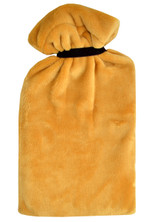 Ochre Supersoft Fleece XL 2.7L Hot Water Bottle & Tie Cover