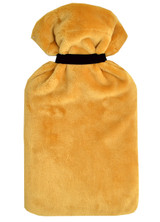 Ochre Cuddlesoft Fleece 2L Hot Water Bottle & Tie Cover