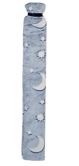 Moon & Stars Glow in the Dark Blue Cosy Fleece Long 2L Hot Water Bottle