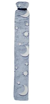 Moon & Stars Glow in the Dark Blue Cosy Fleece Long 2L Hot Water Bottle