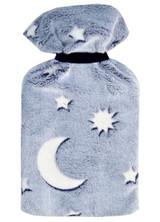 Moon & Stars Glow in the Dark Blue Cosy Fleece 2L Hot Water Bottle