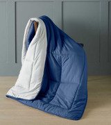 Blue Micro-Touch Reversible Ready Quilt / Throw Combi 150x200cm