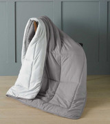 Grey Micro-Touch Reversible Ready Quilt / Throw Combi 150x200cm
