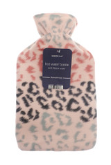 Pastel Animal Print Lightweight Fleece 2L Hot Water Bottle