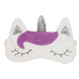 Enchanted Glitter Unicorn Novelty Sleep Mask: Purple & Silver