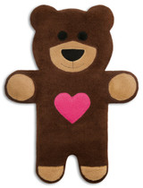 Teddy The Brown Heart Bear Heatable Tummy & Body Warmer Pillow