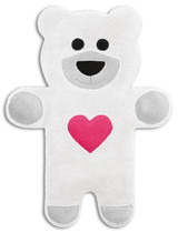 Teddy The Snow Heart Bear Heatable Tummy & Body Warmer Pillow