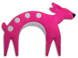 Flora the Pink Fawn Unscented Heatable Neck Warmer Pillow