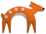 Flora the Orange Fawn Unscented Heatable Neck Warmer Pillow