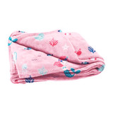 Kids Sirena Mermaid Pink Flannel Fleece Blanket 125cmx150cm