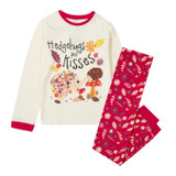 Girls Hedgehugs & Kisses Cream & Red Long Pyjamas