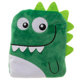 Snuggable Fleece Dinosaur Microwaveable Heat Pack Cushion: Bright Green