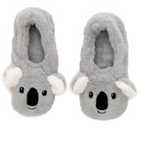 Koala Bear Toesties Faux Fur Heat Pack Slippers