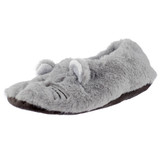 Grey Mouse Toesties Faux Fur Heat Pack Slippers