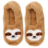 Beige Sloth Toesties Faux Fur Heat Pack Slippers