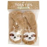 Beige Sloth Toesties Faux Fur Heat Pack Slippers