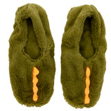 Green Dinosaur Toesties Faux Fur Heat Pack Slippers