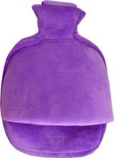 Purple Fleece Single Pouch Hot Water Bottle Foot Warmer