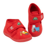Jo & Joe Toddler Boys Digga Red Ankle Bootie Slippers