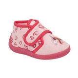Jo & Joe Toddler Girls Filly Unicorn Pink Ankle Bootie Slippers
