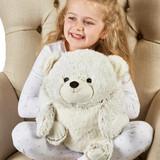 Warmies Supersized Marshmallow Bear Heatable Hand Warmer