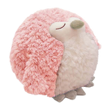 Cozytime Pink Owl Fluffy Faux Fur Giant Hand Warmer