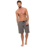 Mens Dark Grey Honeycomb Cotton Jersey Lounge Shorts