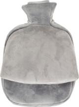 Grey Fleece Single Pouch Hot Water Bottle Foot Warmer
