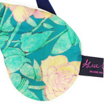 Annas Garden Teal Liberty™ Print Cotton Padded Eye Mask