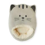 Kitty! Grey Cat Plush Fleece Sherpa Lined Foot Muff Foot Warmer