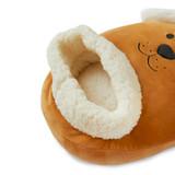 Woof! Brown Dog Plush Fleece Sherpa Lined Foot Muff Foot Warmer