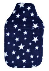 Navy Stars Cosy Fleece 2L Hot Water Bottle & Cover