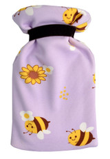 Buzzy Bees Lilac Cotton Cover Mini 0.5L Hot Water Bottle