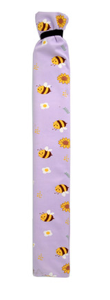 Buzzy Bees Lilac Cotton Long Tubular 2L Hot Water Bottle
