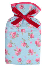 Rose Floral Padded Cotton Cover 2L Hot Water Bottle
