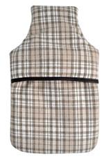 Beige Tartan Check 100% Wool Luxury 2L Hot Water Bottle