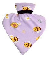 Buzzy Bees Lilac Cotton Cover Heart Hot Water Bottle