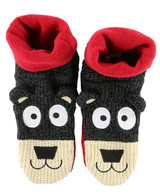 LazyOne Unisex Kids Bear Knitted Moccasin Style Slippers