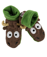 LazyOne Unisex Kids Moose Knitted Moccasin Style Slippers