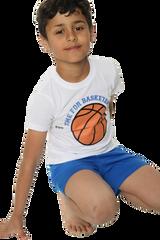 Boys Time For Basketball S/S Top & Short Bottom Pyjamas
