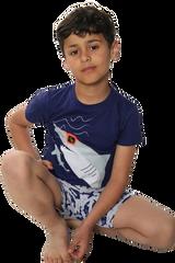 Boys Cool Shark S/S Top & Short Bottom Pyjamas