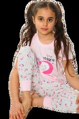 Girls Lets Get Magical Unicorn S/S Top & Legging Bottom Pyjamas