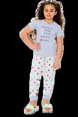 Girls #Princess List S/S Top & Legging Bottom Pyjamas