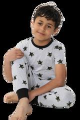 Boys Stars Print S/S Top & Legging Bottom Pyjamas