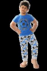 Boys Camo Football S/S Top & Legging Bottom Pyjamas