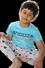 Boys Snooze Mode S/S Top & Legging Bottom Pyjamas